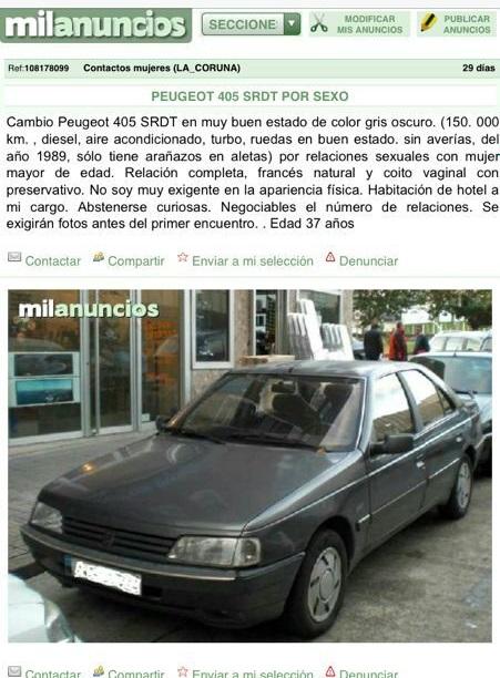 COCHE POR SEXO