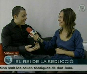 MARIO LUNA, MAESTRO DE LA SEDUCCIÓN, ENTREVISTADO EN CANAL 9